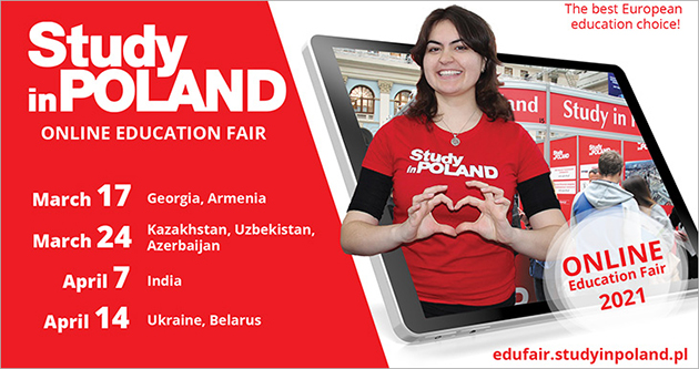 Study in Poland online Education Fairs start soon!